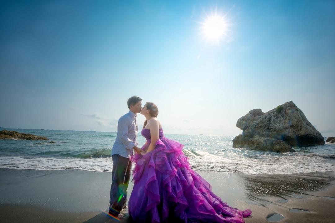 沙灘婚紗照-高雄婚攝MAC美克