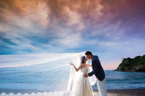 浪漫海灘婚紗-高雄婚攝MAC